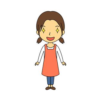 Female whole body housewife 31