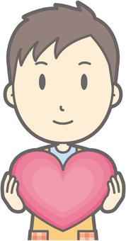 Nursery teacher - Heart - Bust