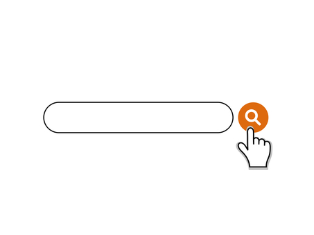 Search window Search bar Search finger Orange