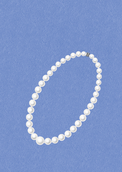 Pearl necklace (white)