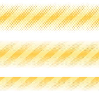 ドットグラデーション8・黄色