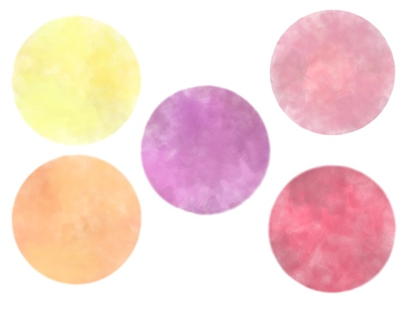 Assortment of watercolor polka dots