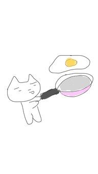 프라이팬과 계란 후라이
