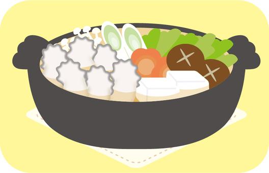 Hot pot oyster hot pot separately