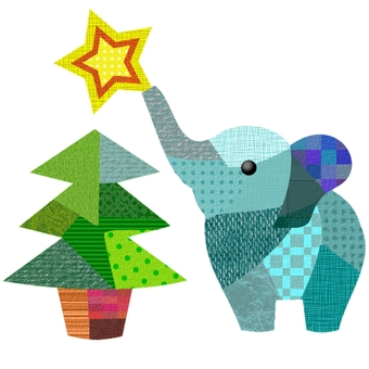Christmas tree and elephant