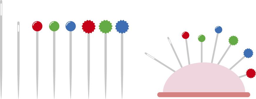 Sewing needle, needle, needle stick