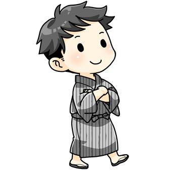 浴衣を着た男の子