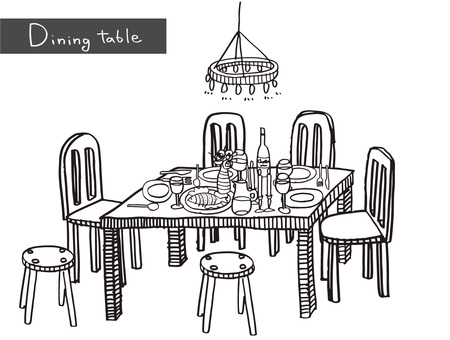 Dining table monochrome