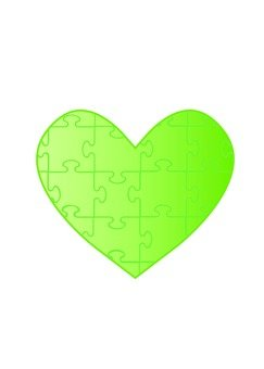 Heart puzzle (green)