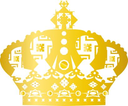 Free illustration free material luxury crown icon