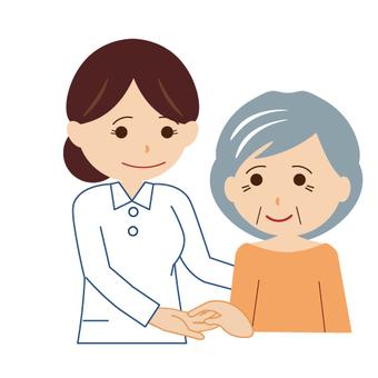 (Working · nursing care series) Image of nursing care