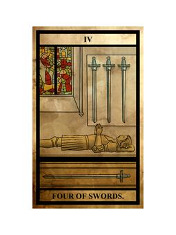 Tarot sword 4