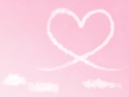 Heart cloud wind background