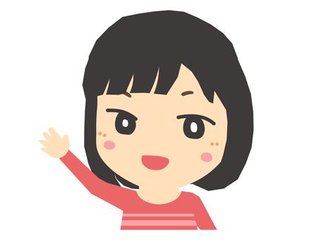 舉手的女人