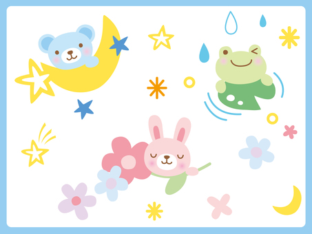 Bear, rabbit, frog 2