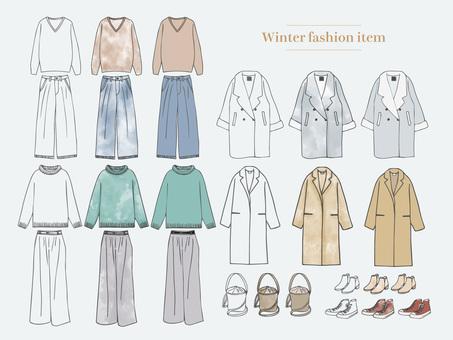 Winter fashion item set