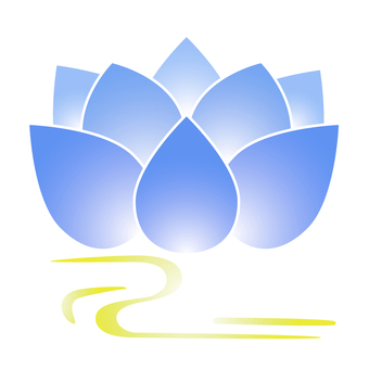 Lotus flower _ with white line