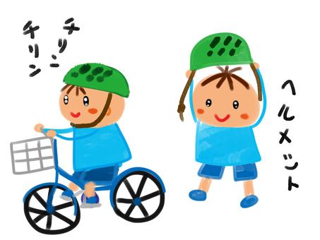 A bicycle boy