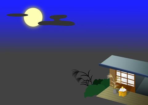 お月見の背景
