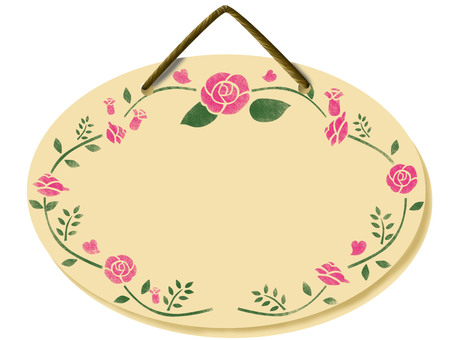 Oval plate (rose)
