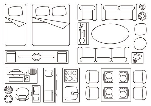 Floor plan Furniture set