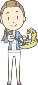 Pompa - stir fry - whole body