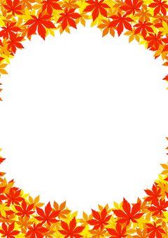 Autumn leaves _ 囲 _ Background through _01