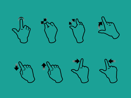 Hand, finger, gesture to operate smartphone 04