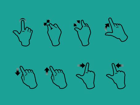 手,手指,操作智能手機的手勢04