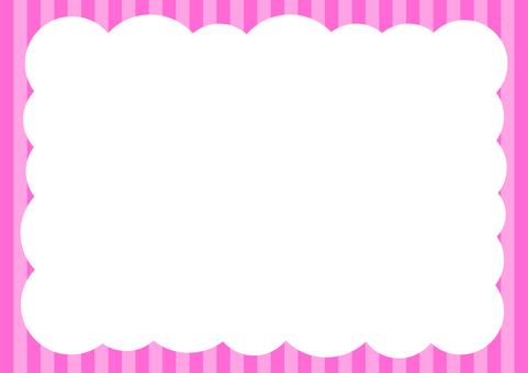 Shimashima Pop Bubble background Pink