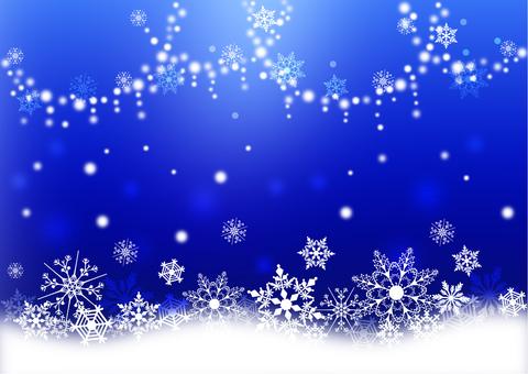 Snow crystal _ dark blue background 2166