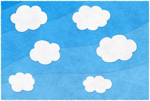 조금 일본식 푸른 하늘과 흰 구름