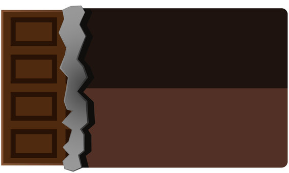 Chocolate vector with package