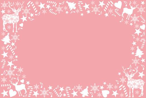 Christmas frame pink