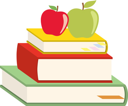 Books and apples