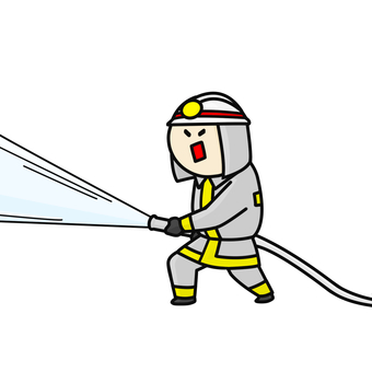Firefighter hose silver