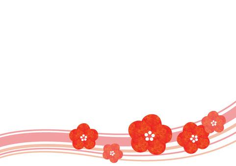 A warm plum flower - wave
