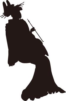 Ukiyo-e character silhouette part 152