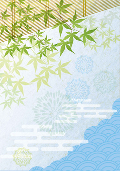 푸른 단풍과 일본식