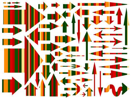 Christmas color arrow