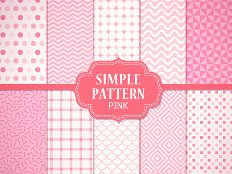 Simple pattern 【Pink】