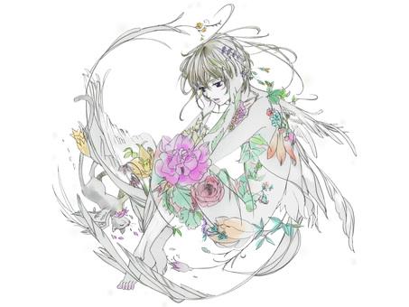 Flower and Tsubasa Cat