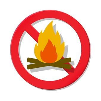 Ban on fire is prohibited.