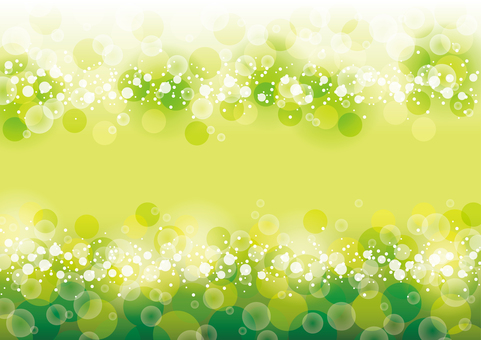 Full circle of fresh green sparkle No vertical radiation
