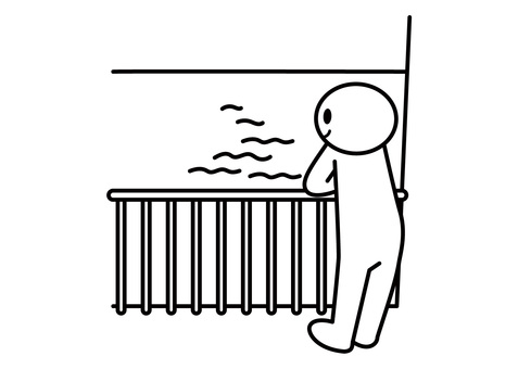 【Theme】 Stickman-View from Balcony