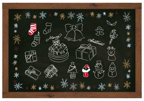 Christmas hand-drawn material blackboard