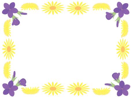 4月的花框架1