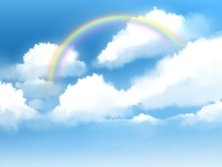 बादल और इंद्रधनुष