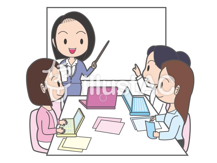 女性だけの会議イラスト No 835394無料イラストならイラストac
