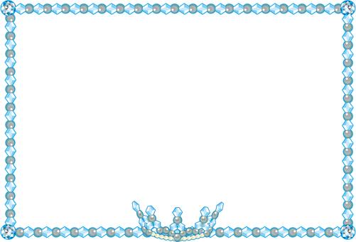 Blue tiara frame